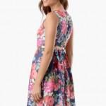 Tozlu giyim çiçek desenli elbise