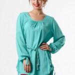 Tozlu giyim su yeşili büyük beden elbise