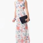 Tozlu giyim uzun çiçek desenli elbise