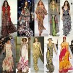 Uzun Desenli Boydan Elbiseler