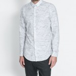Zara desenli erkek gömlek