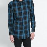 Zara kareli erkek gömlek